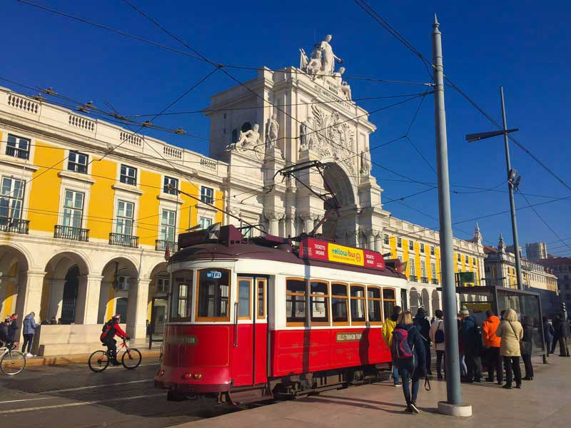 The famous tramway network in Portugal's capital city