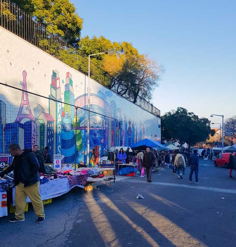 Lisbon - local flea market