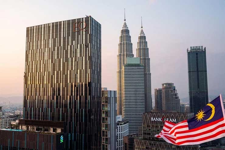 View from The Sky Bar of The Petronas Towers, Kuala Lumpur, Malaysia