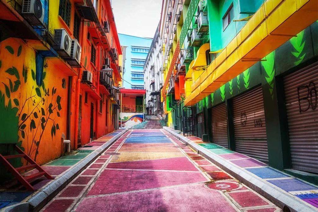 Graffiti street -in Kuala Lumpur, Malaysia
