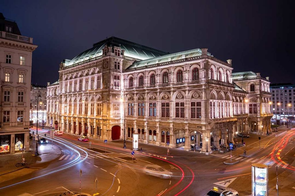 The Vienna State Opera House in the city of Vienna - Austria