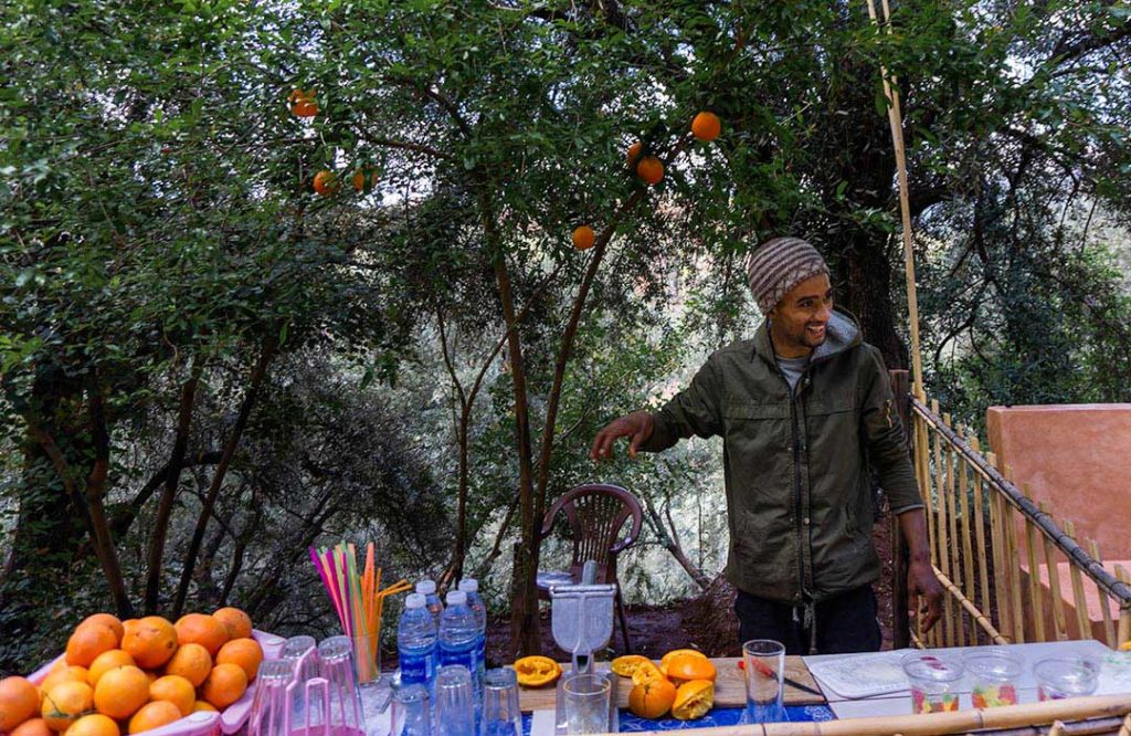 Fresh juice at Ouzoud Falls in Morocco