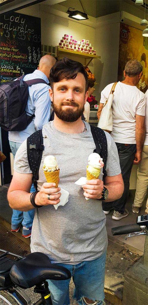 Lody ice cream in Krakow, Poland