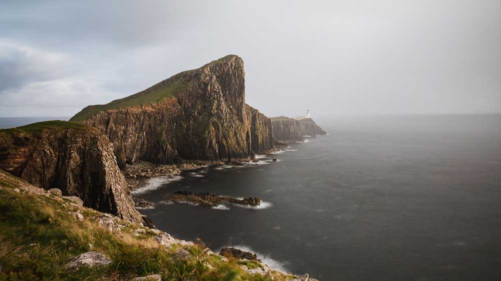 Neist Point Lighthouse on the most westerly point of the Isle of Skye