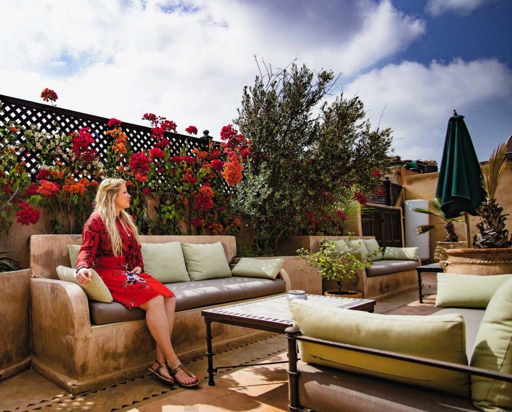 InWanderment - Garden at Riad Zayane in Marrakech, Morocco