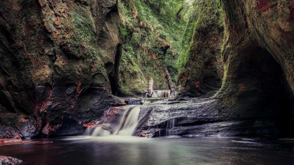 The Devils Pulpit in Scotland
