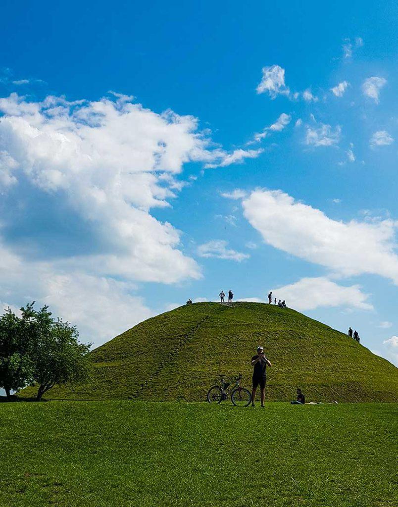 Krakus Mound in Krakow, Poland
