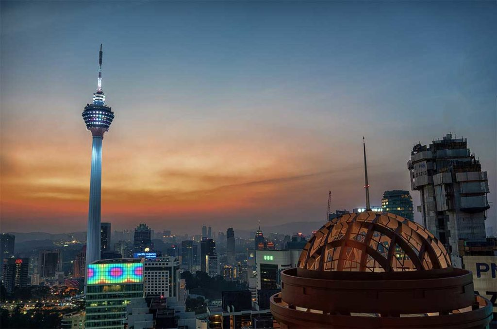 View from The Sky Bar of The KL Tower - in Kuala Lumpur, Malaysia