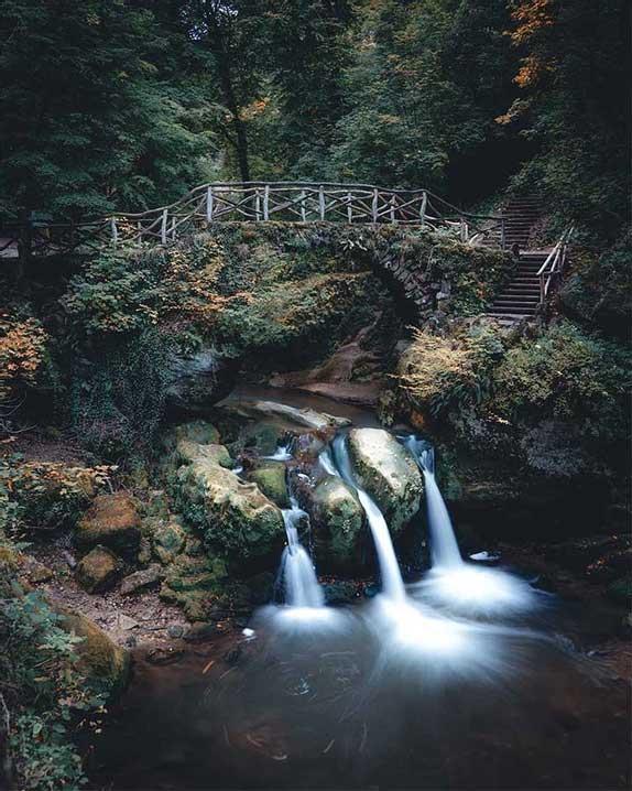 Schiessentümpel waterfall, Luxembourg