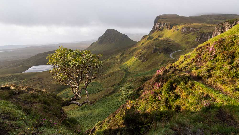 The Quiraing in the north of The Isle of Skye