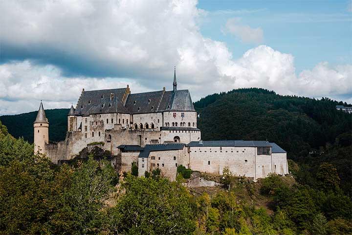 Vianden Castle, in Vianden in the north of Luxembourg
