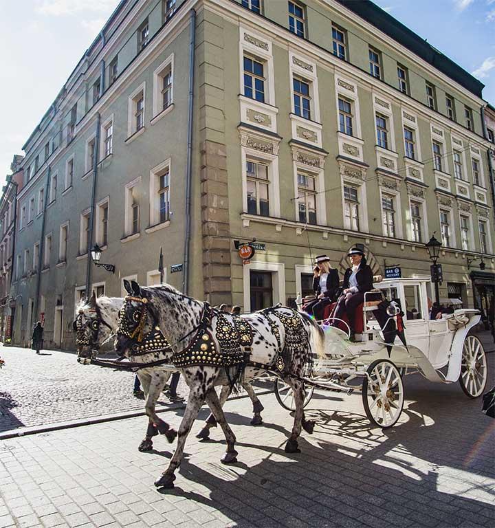Horse & carriage rides in Krakow, Poland