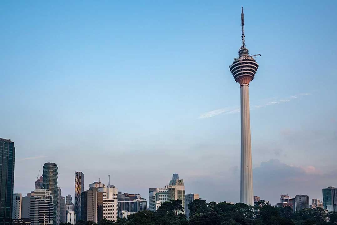 The KL Tower - in Kuala Lumpur in Malaysia