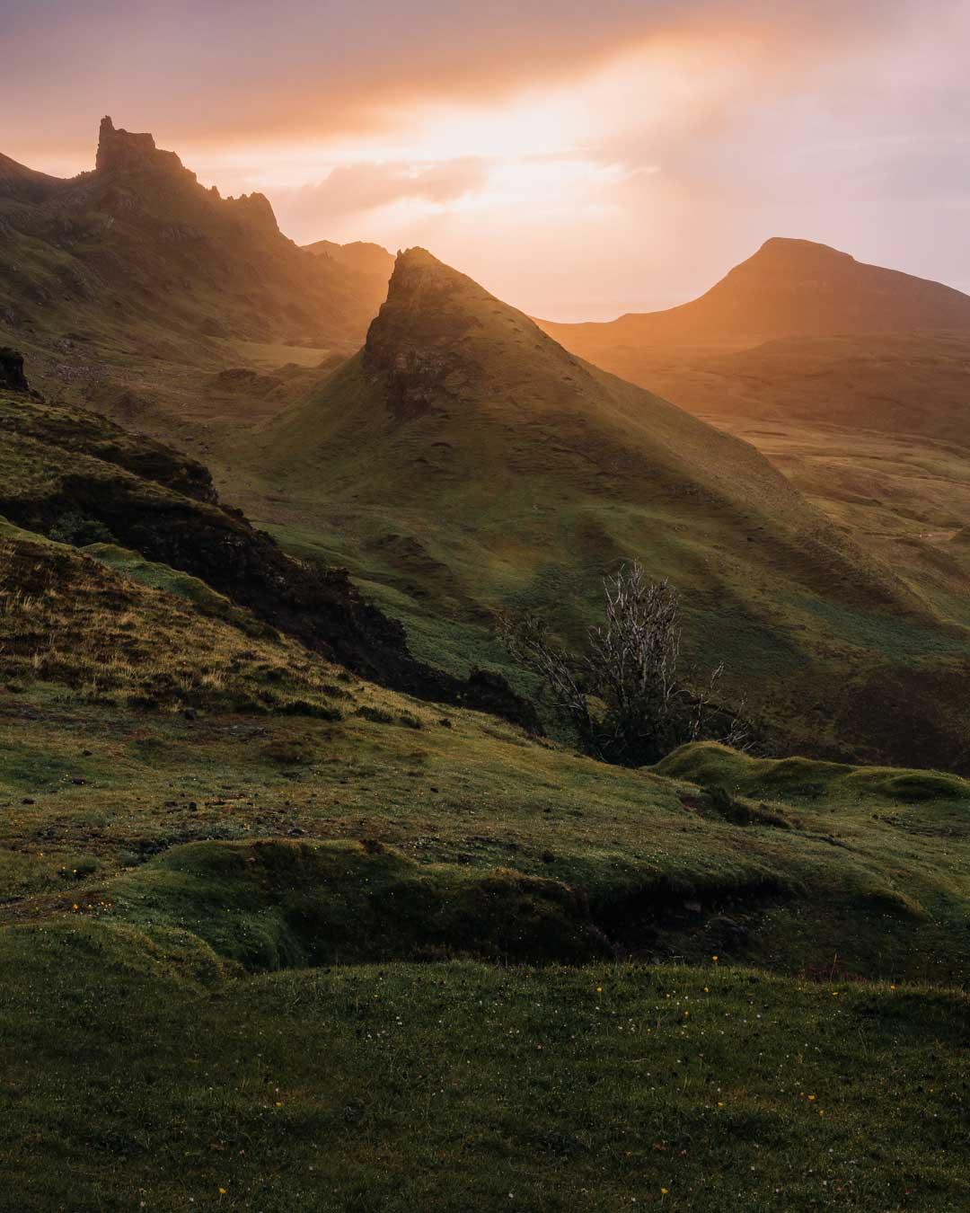 Sunrise at the Quiraing on the Isle of Skye, Scotland