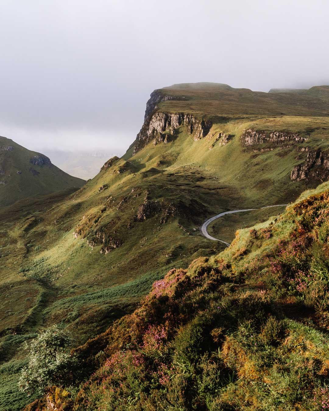Quiraing Mountain on the Isle of Skye, Scotland