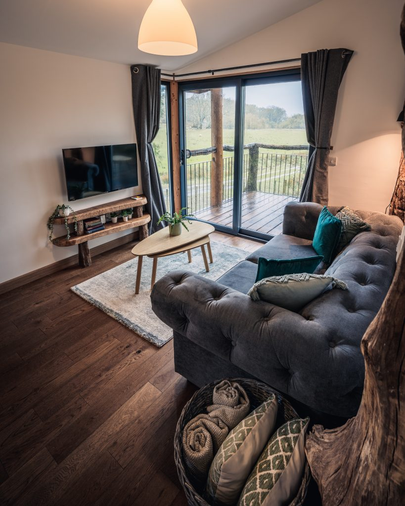 The Pens, Coed Cabins, Living Room - North Wales