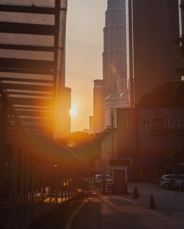Kuala Lumpur city at sunrise