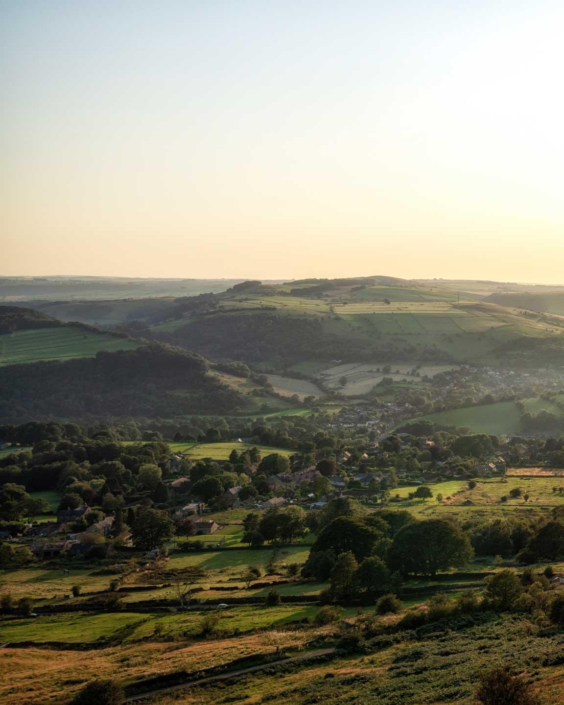 Curbar Edge in the Peak District, England