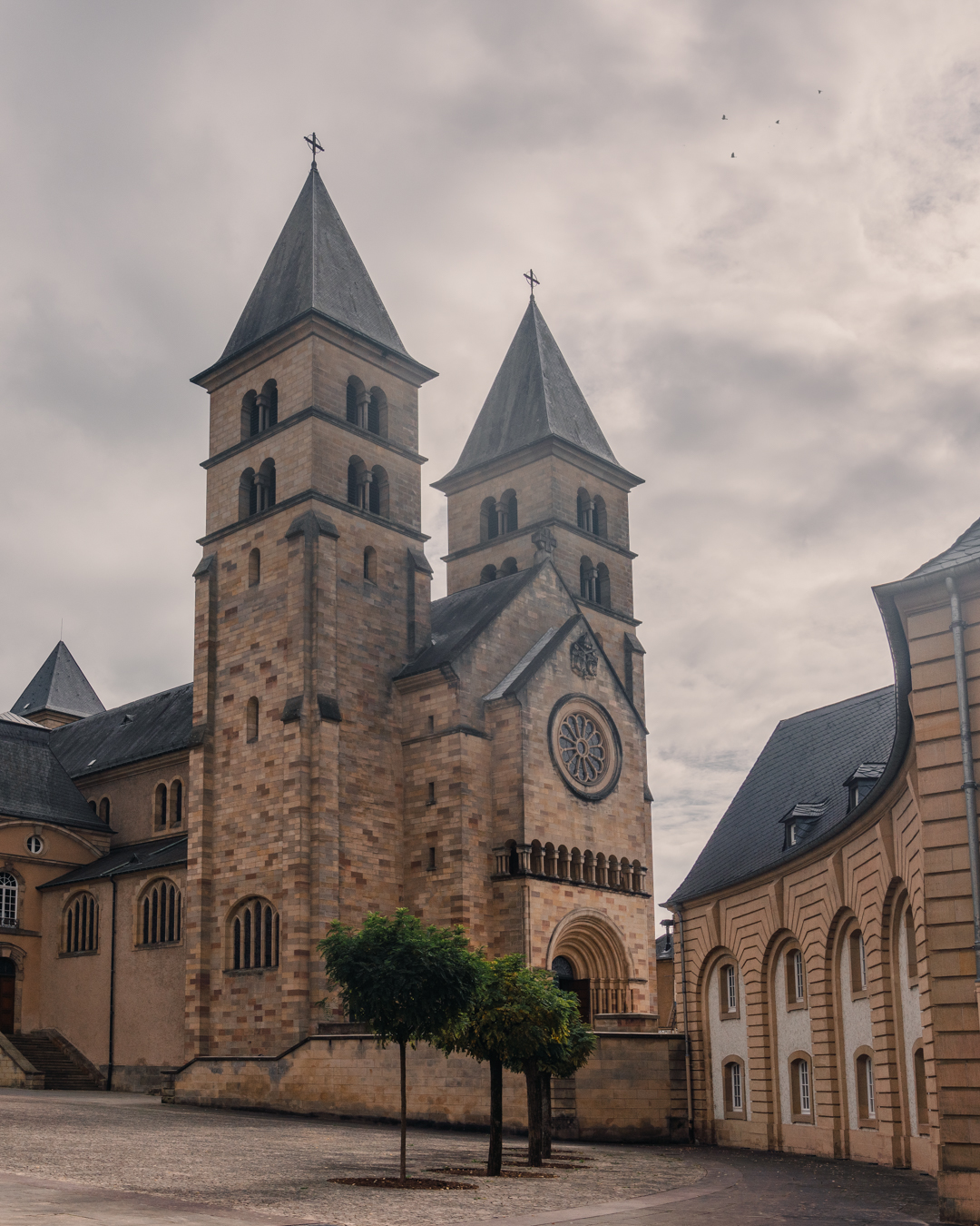The abbey of Echternach in Luxembourg