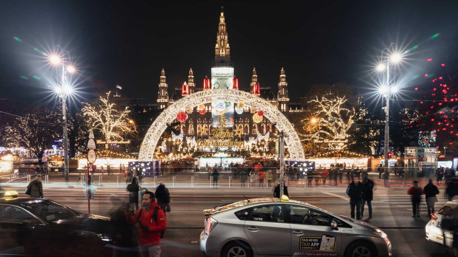 Rathausplatz Christmas Market in Vienna - Austria