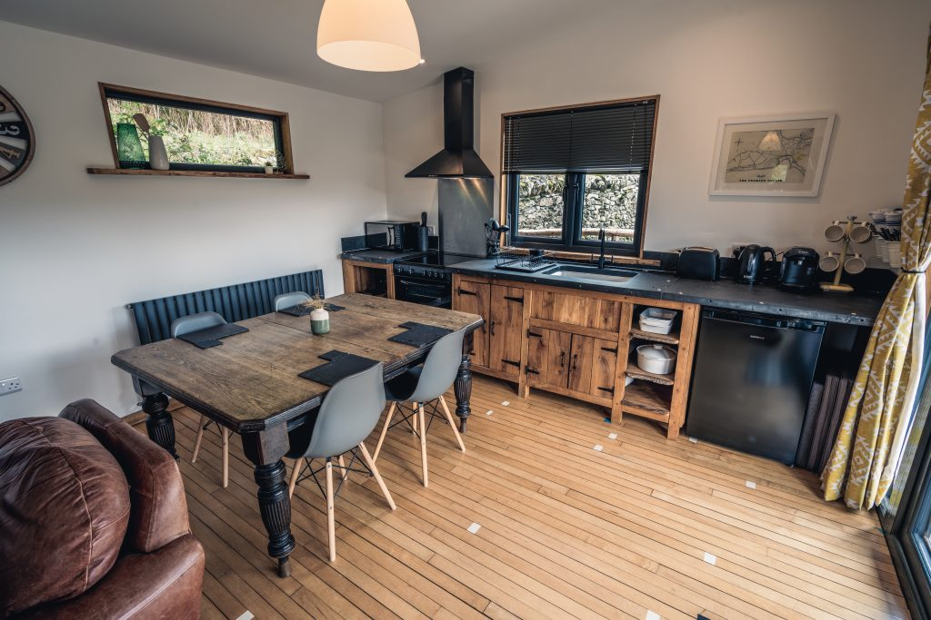 Ty Coed, Coed Cabins, Kitchen - North Wales