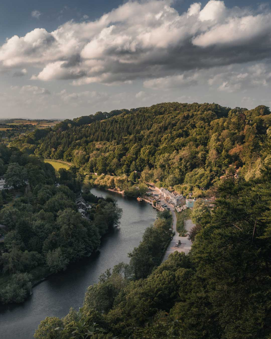 The River Wye in the English county of Herefordshire