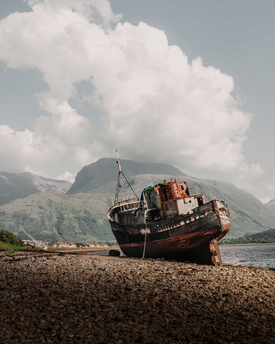 The Old Boat of Caol is also known as the Corpach Shipwreck in Scotland