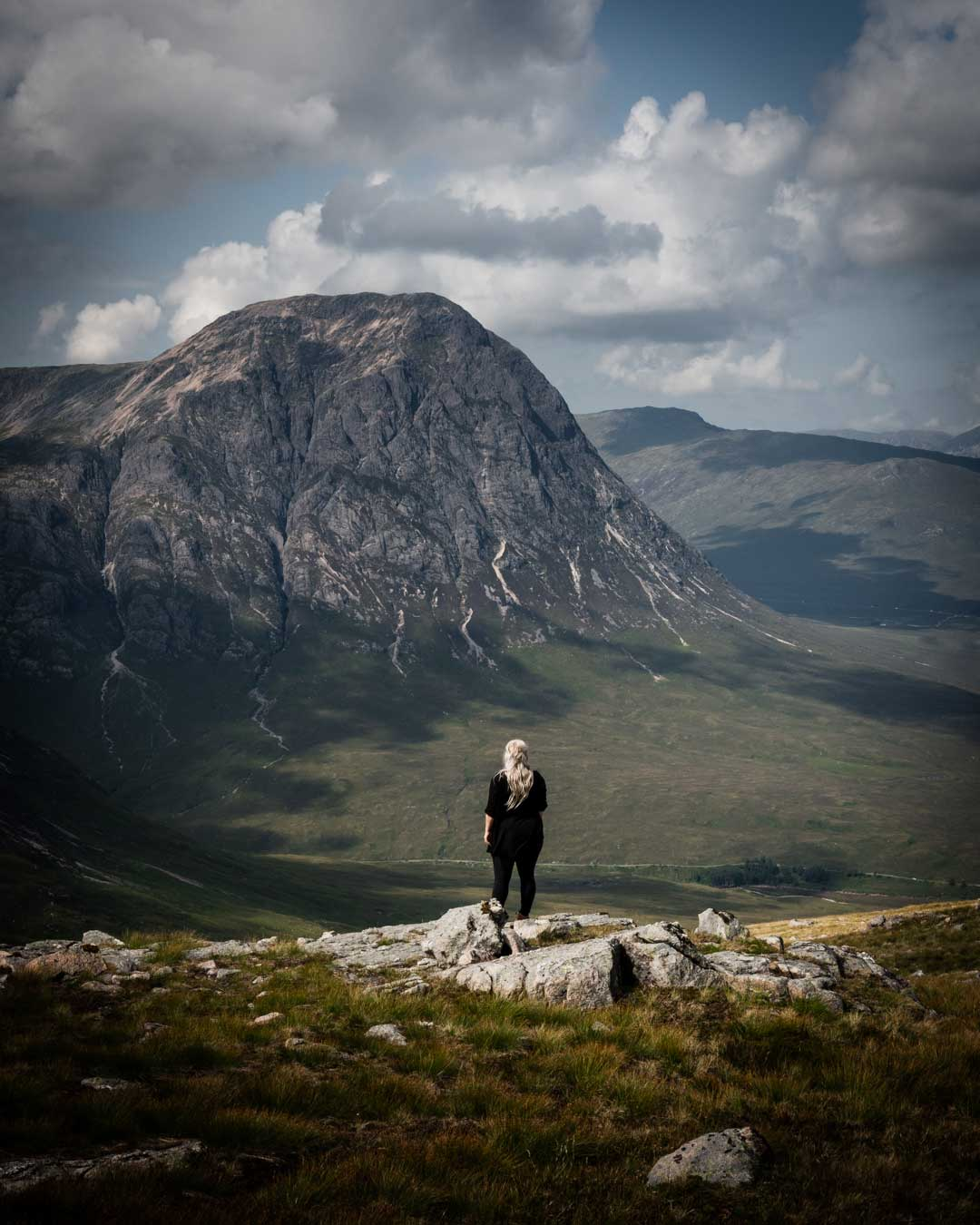 Surrounded by mountains in Glencoe, Scotland