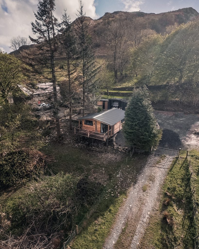 The Pens, Coed Cabins, Ariel View - North Wales